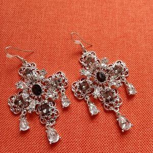 Large Earrings - Rhinestone